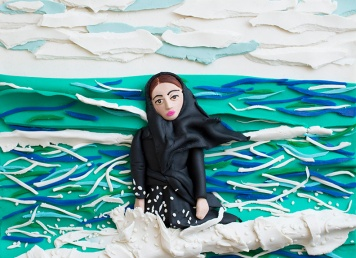 Original photograph: Imaginary CD cover for Sahar. Caspian Sea, Mahmoudabad, Iran, 2011 by Newsha Tavakolian