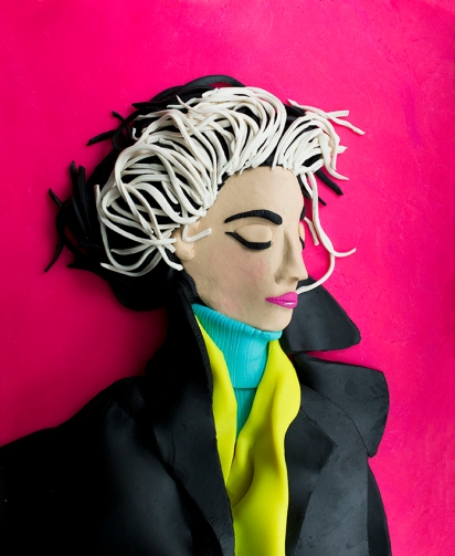 Original photograph: Carmen Dell'Orefice by Irving Penn rendered in Play-Doh 2016 © Eleanor Macnair