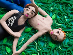 Original photograph: Tricia and Curtis, Canada 2005 from 'Niagara' by Alec Soth rendered in Play-Doh by Eleanor Macnair