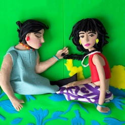 Original photograph: The Necklace, Buenos Aires, Argentina, 1999 by Alessandra Sanguinetti rendered in Play-Doh by Eleanor Macnair