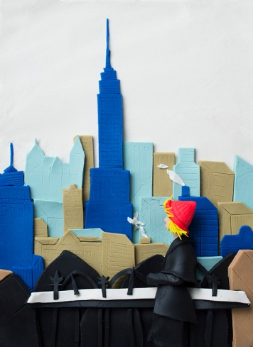 Original photograph: Empire State Building, New York City, 1955 by Elliott Erwitt rendered in Play-Doh