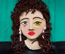 Original photograph: Nan, one month after being battered, 1984 by Nan Goldin rendered in Play-Doh, 2015 © Eleanor Macnair
