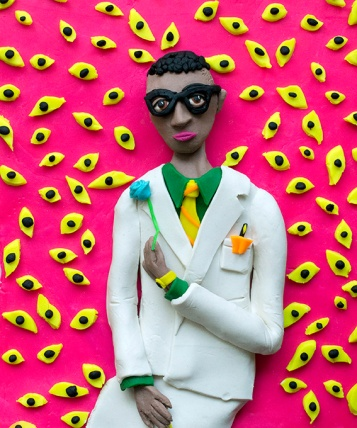 Original photograph: Self-portrait, 1959 by Seydou Keita rendered in Play-Doh, 2016 © Eleanor Macnair