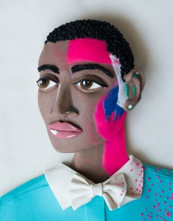 Original photograph: Tinie Tempah (Patrick Chukwuemeka Okogwu) by Nadav Kander rendered in Play-Doh